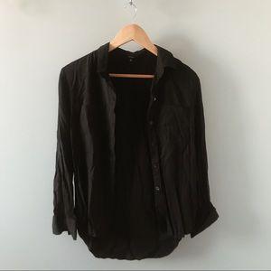 Talula Black Button Up Blouse